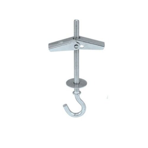 Plasterboard Hook Hanger with Spring Toggle Fixing M4 x 75mm - Pack of 1