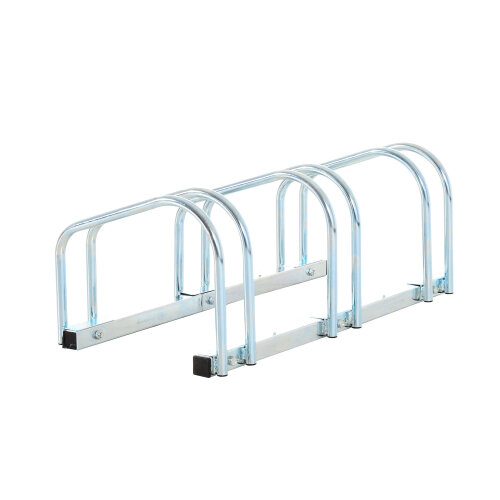 HOMCOM Bike Stand Parking Rack Floor or Wall Mount Bicycle Cycle Storage Locking Stand (3 Racks)