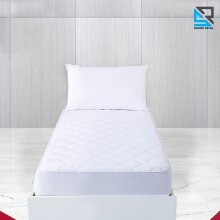 Quilted Mattress Protector Fitted Bed Sheet Cover Single 90 x 190Cm