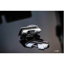 MODIFIX STORE ONLY -> VW R Line Black Chrome Emblem Badge Set Front & Rear Grille Trunk Sticker VW Golf R Polo Tiguan CC Scirocco Passat