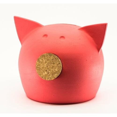 (2019 LIVING CORAL, M) Chalk Collection Medium Living Coral Piggy Bank & Adults