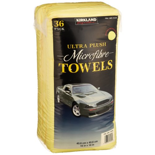 Kirkland Signature 713160 Ultra Plush Microfiber Towels 36 Pack, Yellow