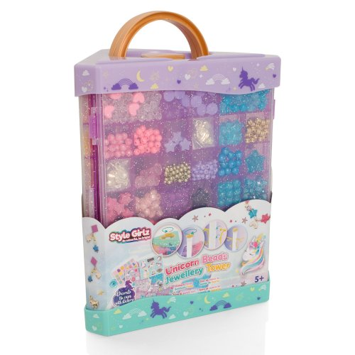 Style Girlz Unicorn Beads Jewellery Tower | Children's Jewellery Kit