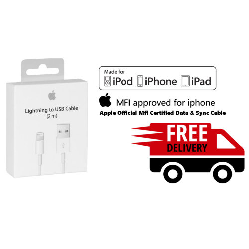 Apple Official Genuine Certified Lightning To Usb Cable 2M