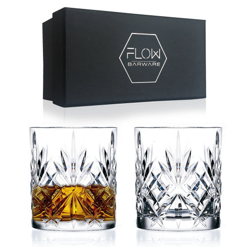 Classic Crystal Whisky Glasses Gift Set, Whiskey Tumblers x 2