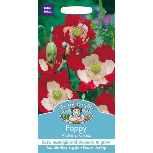 Mr Fothergills - Pictorial Packet - Flower - Poppy Victoria Cross - 250 Seeds