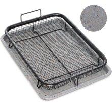 Home Icon Granite Copper Crisper Air Fryer Tray 2pc Set