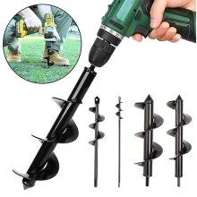 Garden Planting Auger Spiral Hole Drill Bit Planter Post Hole Digger