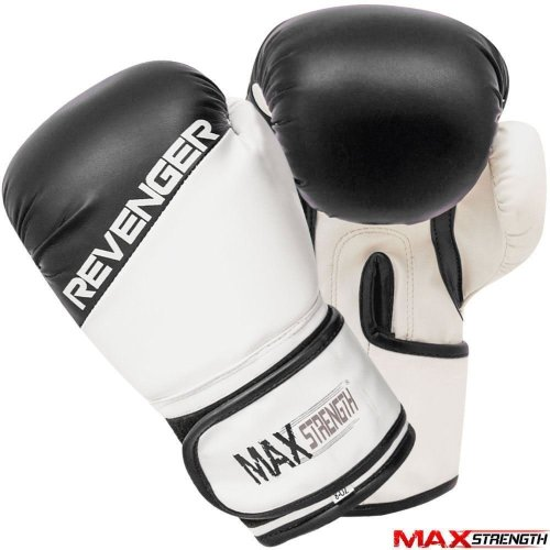 (12oz) Boxing Punch Bag Gloves Rex Leather Gym Training