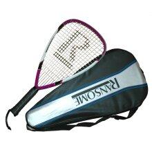 Ransome R1 Power Racquetball Racket Purple / Black / White - Full Cover - 56cm