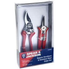 Spear & Jackson Secateurs and Snips Set - Ideal for Pruning & Cutting, Twin Set