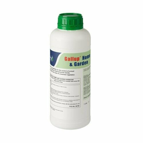 1 Litre Gallup Home & Garden Weed Killer Glyphosate Commercial Strength