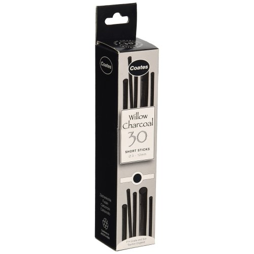 Coates Willow Charcoal Assorted 30 Pieces Black