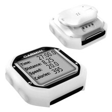 TUFF LUV Garmin Edge 20 / 25 Silicone case and screen protection - White