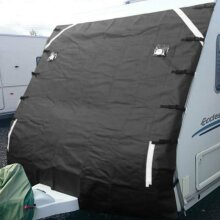 Universal Caravan Front Towing Covers Protector +2 LED Lights Shield Dustproof