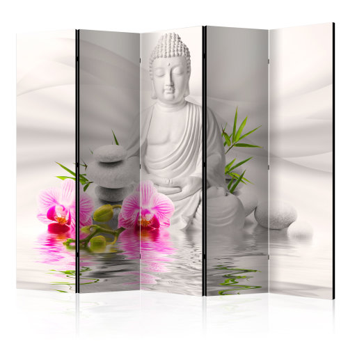Room Divider - Buddha and Orchids II [Room Dividers]