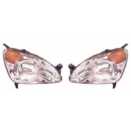 Honda CR-V Mk2 2002-3/2005 Headlights Headlamps Amber Indicator 1 Pair O/S & N/S