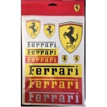 STICKERS A4 Pack x 11 Scuderia Ferrari Vinyl Decals Formula One 1 Team NEW! Gift