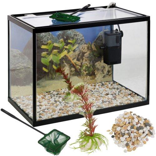 Glass Aquarium Fish Tank Starter Kit - 18-26L