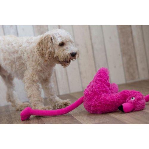 Gor Pets Hugs Flamingo Soft Plush Toy for Dogs 53cm