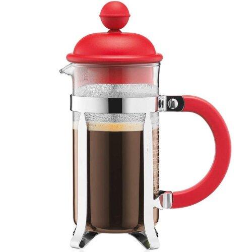 BODUM Caffettiera 3 Cup French Press Coffee Maker, Red, 0.35 l, 12 oz