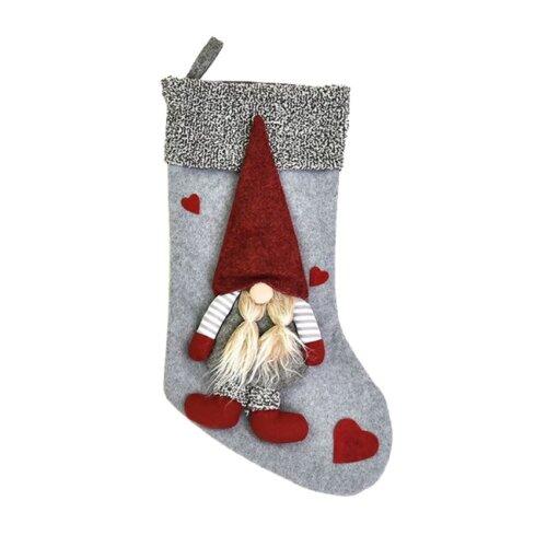 (Grey) Christmas Elf Cloth Stocking