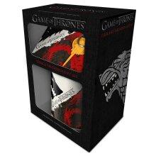 Game of Thrones Stark and Targaryen Mug and Coaster Set
