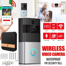 Security Wireless WiFi Remote PIR Video Camera Doorbell Phone Intercom