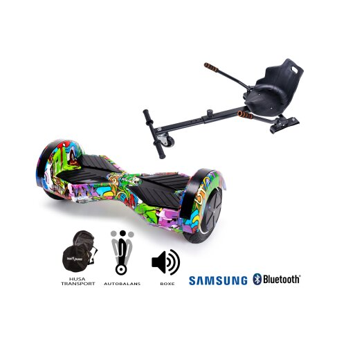 Package Hoverboard Smart Balance™ Premium Brand, Transformers MULTICOLOR+Hoverseat,8 inch Bluetooth wheels,Samsung battery,Built-speakers,700W,LED