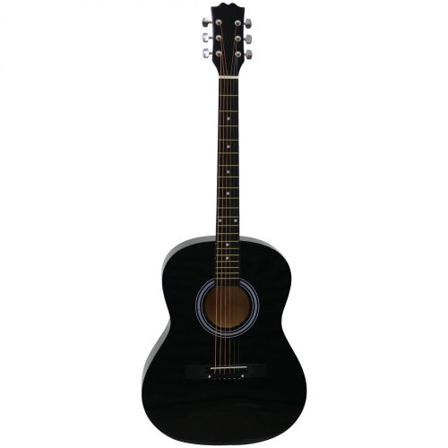 "Oypla Black 39"" Full Size 4/4 6 String Steel Strung Acoustic Guitar"