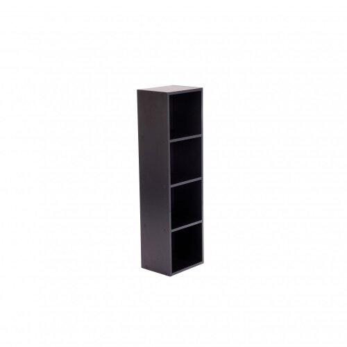 Oypla 4 Tier Wooden Shelf Black Bookcase Shelving Storage Display Rack