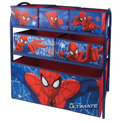 (Spiderman) Disney & Marvel Metal Rack Organiser With 6 Drawers