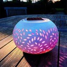Solarize Colour Changing Ceramic Table Lantern