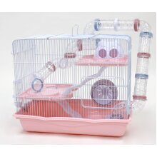 Little Zoo Harvey Explorer Hamster Cage (Pink)