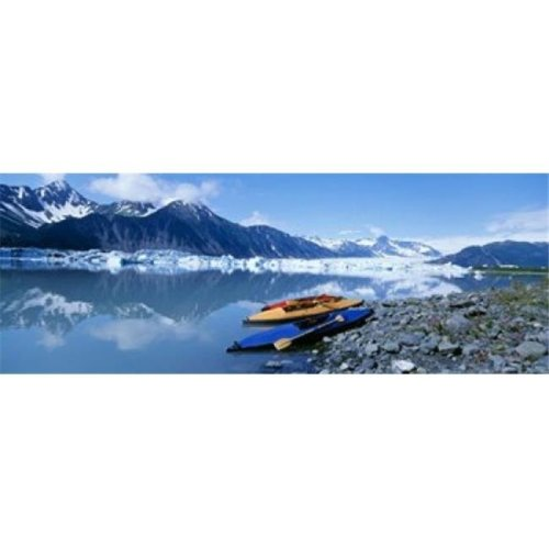 USA  Alaska  Kayaks by the side of a river Poster Print by  - 36 x 12