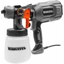 Terratek Paint Sprayer, 550W DIY Electric Spray Gun with 3 Spray Patterns, 1 x 800ml Paint Cups, HVLP Hand Held Spray Gun System, Fence Sprayer