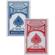 Plastic Coated Playing Cards │Indoor/Outdoor Poker Game Set│Blue/Red