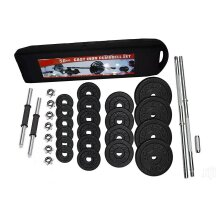 50kg Adjustable Dumbbell And Barbell Set  Cast Iron