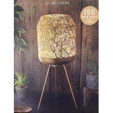 Elegant Design Paradise Lux Tropical Stand Lamp Gold Metallic Design 100 Warm LED Lights