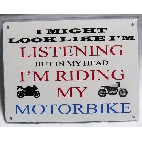 motorbike metal sign motorcycle biker.