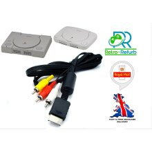 Playstation 1 PS1 PSONE AV Cable TV Lead Composite Video Audio RCA