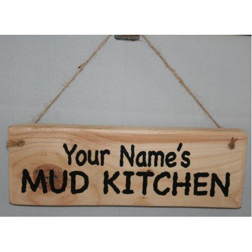 Personalised Mud Kitchen Plaque | Hanging Mud Kitchen Sign