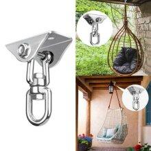Ceiling Mount Spring Snap Swivel Hooks Hardware Hammock Chair Hanging Kit
