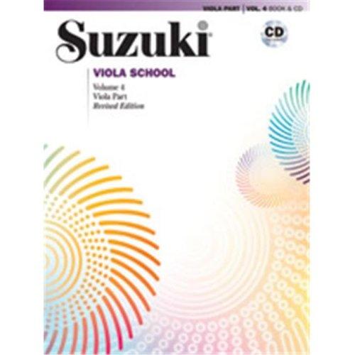 Alfred 00-40694 SUZUKI VIOLA SCHOOL 4-BK&CD
