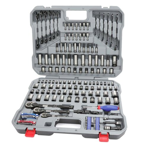 WORKPRO 164PC Tool Set Socket Wrench Set Hand Tools for Car Repair