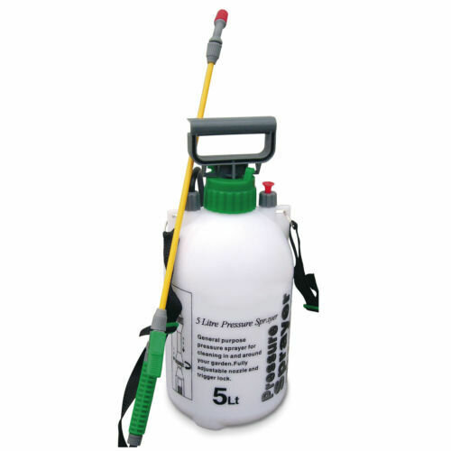 5L GARDEN PRESSURE SPRAYER WEED KILLER CHEMICAL WATER SPRAY BOTTLE