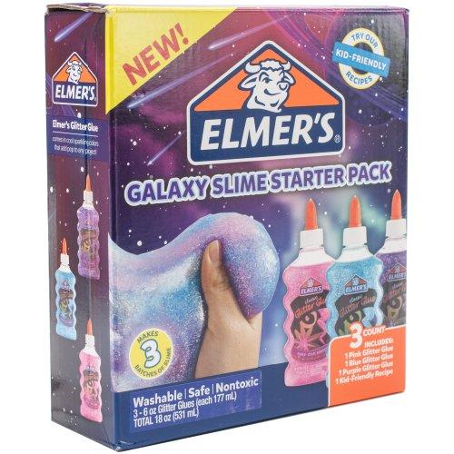 3pk Elmer's Galaxy Glitter Glue | Washable Non-Toxic Glitter Slime Set