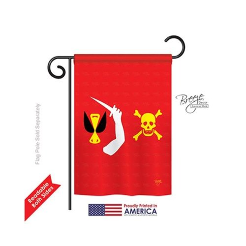 Breeze Decor 57043 Pirate Christopher Moody 2-Sided Impression Garden Flag - 13 x 18.5 in.