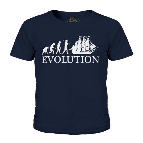 Candymix - Frigate Evolution Of Man - Unisex Kid's T-Shirt