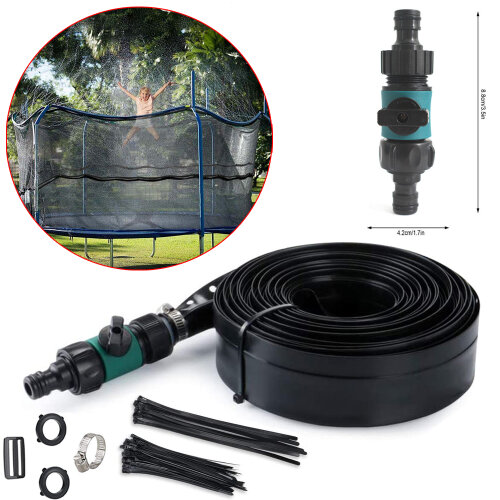 39.4ft Trampoline Waterpark Sprinkler Spray Hose Summer Water Game